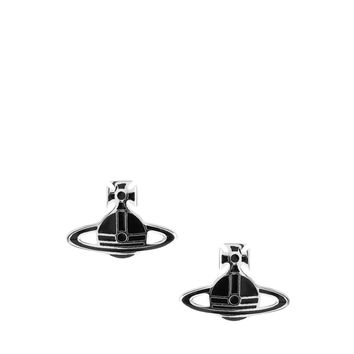 Vivienne Westwood Black Orb Earrings