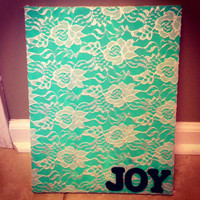 "Lace ""Joy"" Canvas"