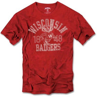 47 Brand Wisconsin Badgers Vintage Scrum T-Shirt