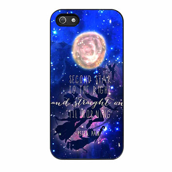 Peter Pan Quote Disney Flying Galaxy iPhone 5s Case