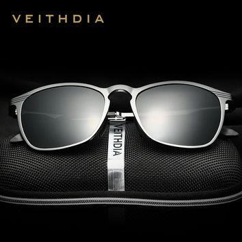 VEITHDIA 2017 New Brand HD Sunglasses Polarized Men Aluminum Alloy Frame Eyewear Accessories Glasses For Men 6630
