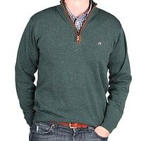 The Hayward 1/4 Zip in Field Green by Southern Point Co.