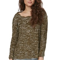 Pure Rebel Oversized Marled Pullover Sweater - Womens Sweater