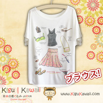 New Art and Fashion Loose and High Quality Spring and Summer Tshirt Free Size KK438