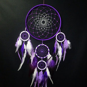 Dreamcatcher purple magic, Dream catcher, Dreamcatcher mobile, amulet, talisman, Charm, protective amulet,Indian talisman