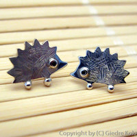 HEDGEHOG Stud Earrings Sterling silver Mini Zoo