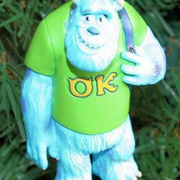Licensed cool NEW Disney Monsters University SULLEY SULLY OK Christmas Holiday Ornament PVC