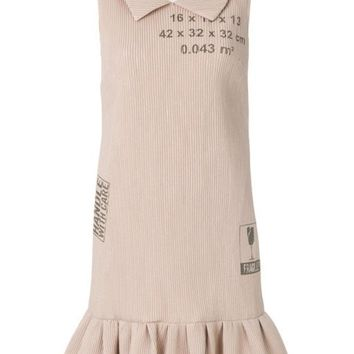 ONETOW Moschino Handle With Care Ribbed Dress - Farfetch