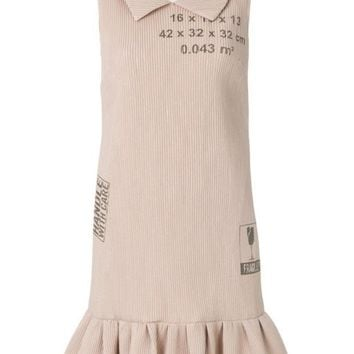 DCCKIN3 Moschino Handle With Care Ribbed Dress