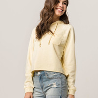 FULL TILT Light Yellow Womens Crop Hoodie