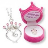 Petite Princess Crown Necklace in Figural Gift Box:Amazon:Everything Else