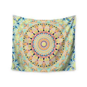 "Iris Lehnhardt ""Flourish"" Circle Yellow Wall Tapestry"