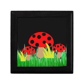 Mushrooms Keepsake Box