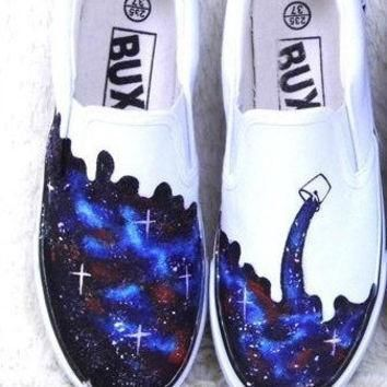 galaxy converse custom galaxy painted shoes