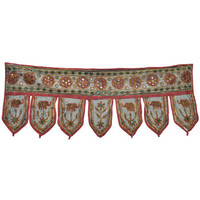 Embroidered Mirrored Valance
