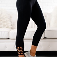 Good Sport Cut Out Leggings (Black)