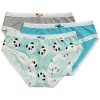 Esme Girl's Panty Pack 3pcs - Panda