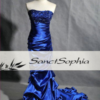 Royal Blue Mermaid Evening Dress Formal Prom Party Dress Gown Brdal Wedding Party Dress