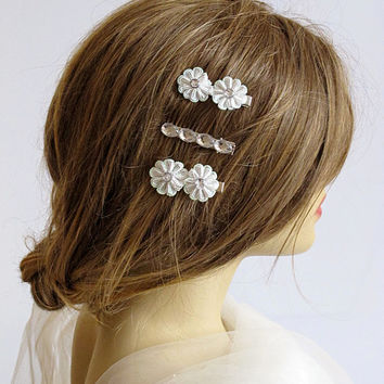 Wedding Flower Hair pins, Flower hair pin, bridal, wedding hair accessories, hair clip, Hair Flower, Hair Accessory, gift ideas, Bridesmaid