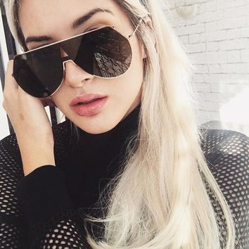 Beyond Star Steam Punk Semi-Rimless Sunglasses Women Metal Reflective Lens Goggle Eyeglasses Fashion Women Men Mirror Sunglasses