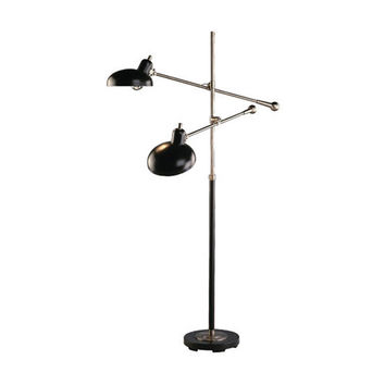 Bruno Collection Adjustable Double-Arm Pharmacy Floor Lamp design by Robert Abbey