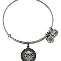 Women's Alex and Ani 'Collegiate - Phi Sigma Sigma' Expandable Charm Bangle - Russian