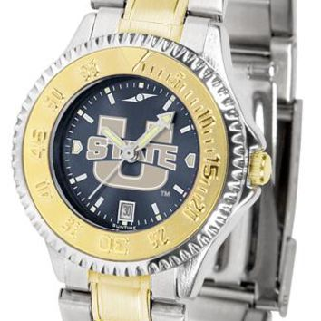 Utah State University Aggies Competitor Ladies Two-Tone AnoChrome Watch