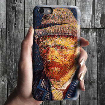 Selfportrait 3 - Van Gogh iPhone Case 6, 6S, 6 Plus, 4S, 5S. Mobile Phone Cell. Art Painting. Gift Idea. Anniversary. Gift for him and her