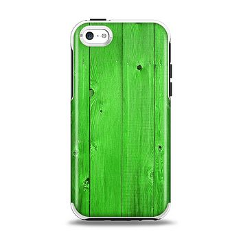 The Green Highlighted Wooden Planks Apple iPhone 5c Otterbox Symmetry Case Skin Set