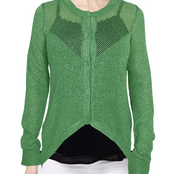 WOMENS LUREX RESORT CARDIGANS