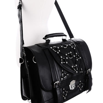 Gothic Witchcraft Bondage Messenger Expandable 3 Way Bag