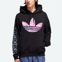 ADIDAS fashion hit for men and women with watercolor printed hoodies