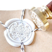 Damask Gold Plated Wax Seal Stamp x 1