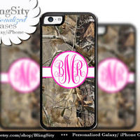 Camo Hot Pink Monogram iPhone 5C 6 Plus Case iPhone 5s 4 case Ipod Realtree Personalized Country Inspired Girl