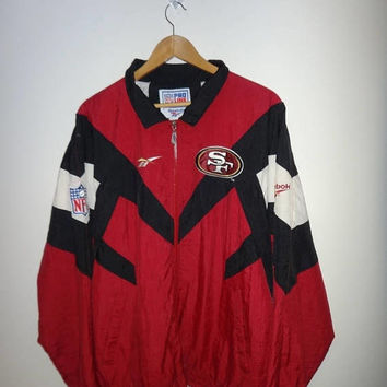 May On Sale Rare Vintage SAN FRANCISCO 49ers Reebok Jacket SF Proline Nfl Winbreaker Jacket