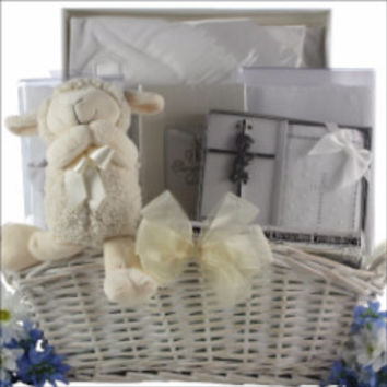 Baby Christening Blessings Gift Basket