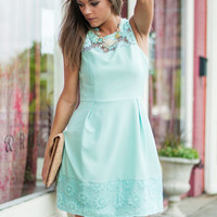 Sunflower Power Dress, Mint