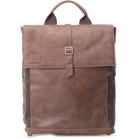 STONE LEATHER CANVAS CARAVAN BACKPACK