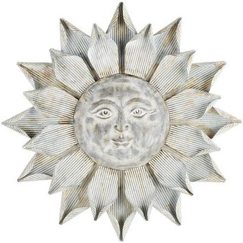 Sun Galvanized Wall Decor