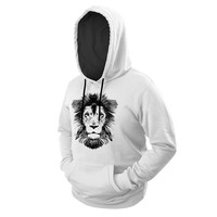 White Lion Hoodie with FREE Mystery Beanie!