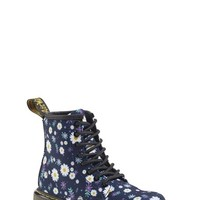 Girl's Dr. Martens 'Delaney' Daisy Print Boot,