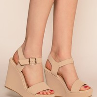 Remi Wedges - Nude