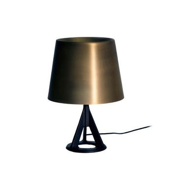Industrial Cast Iron Base Polished Brass Shade Table Lamp