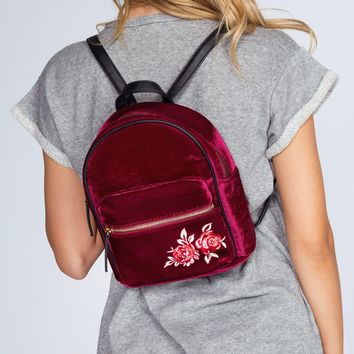 Payton Rose Backpack - Burgundy Velvet