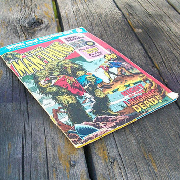 Vintage Book and Record Set The Man Thing Night of the Laughing Dead Marvel Power Records 1974