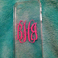 Custom Monogram iPhone Case-Clear