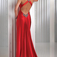 Sexy Red Prom Dress, Flirt Evening Gown, Long Red Dress- PromGirl
