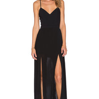 Lovers + Friends Candelight Maxi Dress in Black