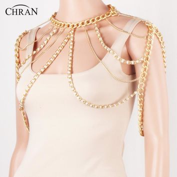 Chran Faux Pearl Shoulder Necklace