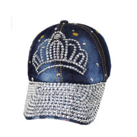 "Princess/Queen Tiara Studded ""Bling"" Dark Denim Hat"